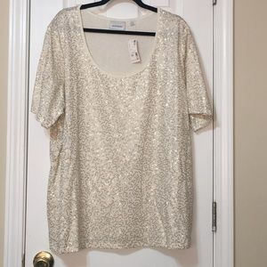 Avenue Sequin Top